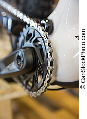 Mtbike chainring - Particular of a mountain bike chainring...