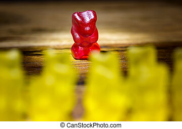 all against one - gummy bear all against one yellow against...
