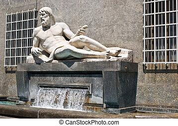 The fountain of Po river, Turin - The fountain of Po river...