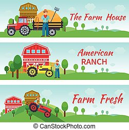 Tractor Driver Flat Banners - Tractor driver banners...