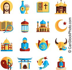 Religion Icon Set