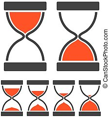 Sand Glass Timer - Sand glass timer concept with hourglass...