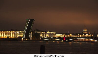 Troitsky drawbridge Saint-Petersburg 4K - Troitsky...