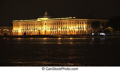 Saint-Petersburg Academy of art. Night. - Saint-Petersburg...