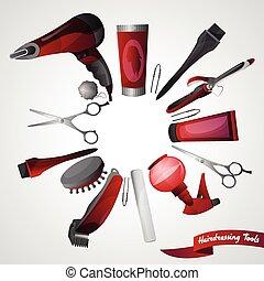 Barber Shop Concept - Barber shop concept with hairdresser...