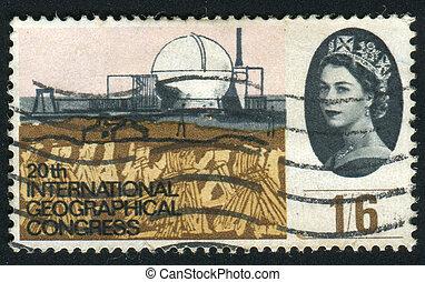 postmark - GREAT BRITAIN - CIRCA 1964: Dounreay nuclear...