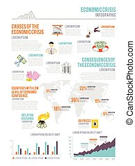 Economic Crisis Infographics - Economic crisis infographic...