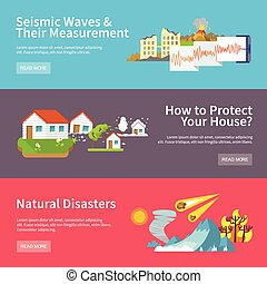 Natural Disaster Banners - Natural disaster horizontal...