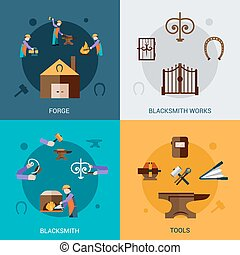 Blacksmith Design Concept Set