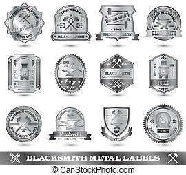 Blacksmith Metal Label - Blacksmith ironwork craft master...