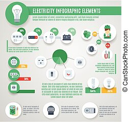 Electricity Infographics Set - Electricity infographics set...