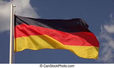 Flag Of Germany - Flag Of Germany on the background of the...