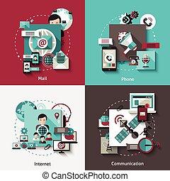 Communication Design Concept Set