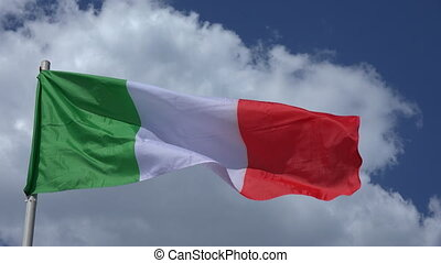 Flag Of Italy - Flag Of Italy on the background of the sky...