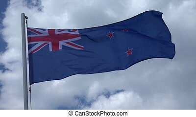 Flag Of New Zealand - Flag Of New Zealand on the background...