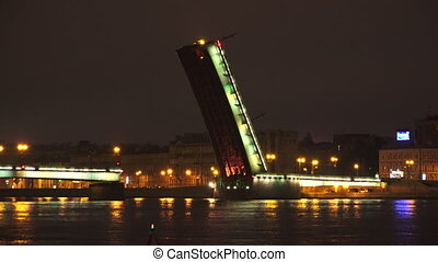 Liteiny drawbridge. Saint-Petersburg. 4K. - Liteiny...