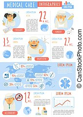 Medical care infographics presentation report poster -...