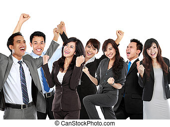 Group of business people celebrating their achievement