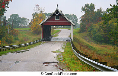 Netcher Road Bridge - Historic Netcher covered bridge in...