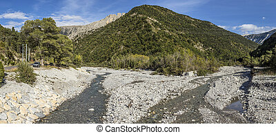 River La Bleone near Prads in region Alpes de haute Provence...