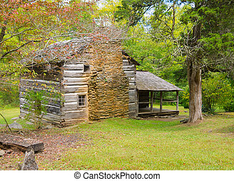 Smoky Mountains Cabin - Walker Sisters Cabin in the Great...