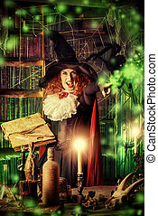 old witch - Attractive witch in the wizarding lair....