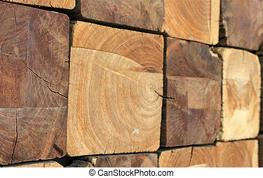 Square Wood Logs Stack Background