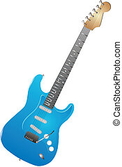 Electric Guitar isolated illustration - Illustration of a...