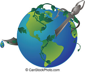 Killing Mother Earth, with our misuse of her elements...