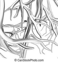 Fantasy veins. Medical illustration