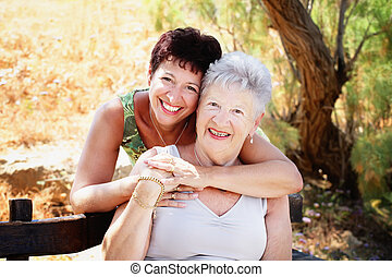 Beautiful senior mother and daughter - Bright lifestyle...