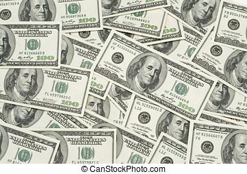 hundred dollar bills - many 100 dollar bills spread out