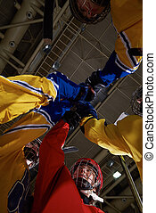 teen girls ice hockey sport players - young teen girls ice...