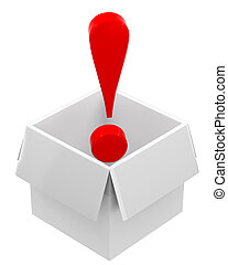 Red exclamation mark in box