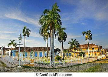 Plaza mayor in Trinidad, cuba - A view of plaza Mayor in...
