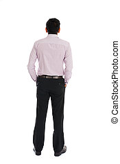 back view of indian business male