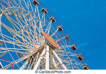Minsk ferris wheel in central city Gorky park, Belarus -...