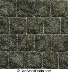 Seamless Stone Wall Background with Texture Rocks