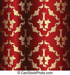 drapery - Ornamental drapery with silk, detail