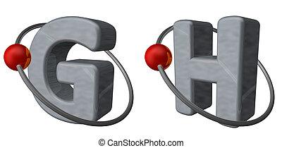 Cartas, G, H