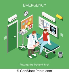 Hospital 05 People Isometric - Emergency Care and...
