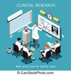 Hospital 08 People Isometric - Clinical Research as Hospital...