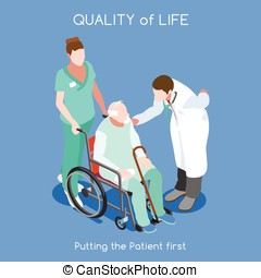 Hospital 10 People Isometric - Healthcare Quality of Life as...