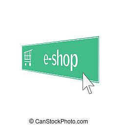 e-shop - web button