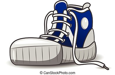 Sneaker - Illustration of sports shoes running shoes on a...