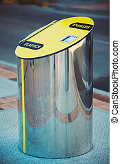 Metal Waste bins, trash cans for separate waste outdoor