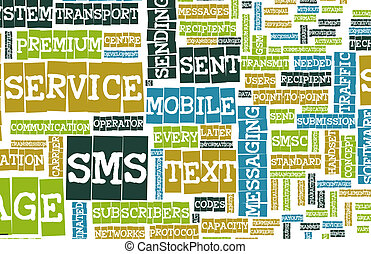 SMS Mobile Text Short Message Service Concept