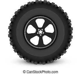 wheel car - car wheel vector illustration imitation shadow...