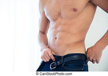 Sexy male torso - Closeup portrait of a sexy male torso