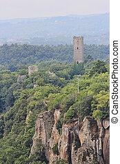 Torre Chia, Lazio, Italy - Chia ancient medieval Tower,...